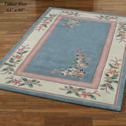 Elegant Corner Floral II Rectangle Rug