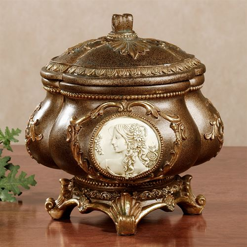 Rossella Cameo Covered Bowl Brown