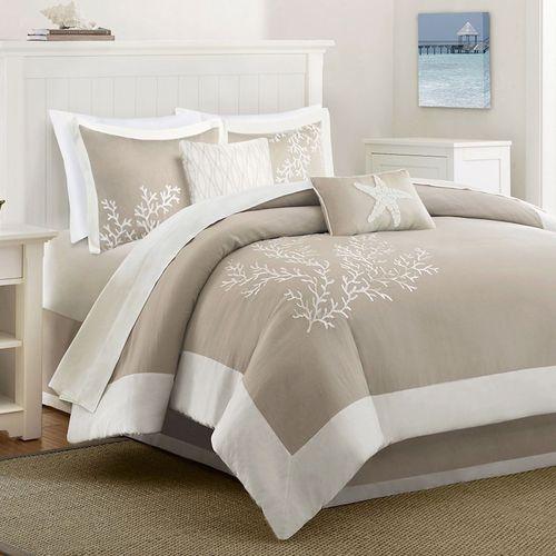 Coastline Comforter Bedding Set Khaki