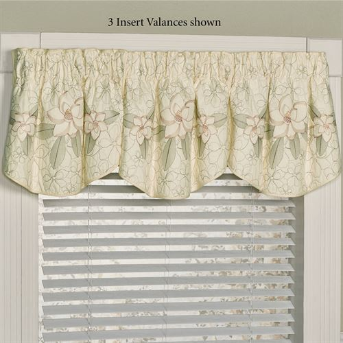 Southern Belle Magnolia Floral Window Valance