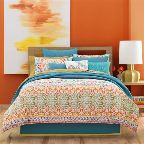 Farah Comforter Set Multi Bright
