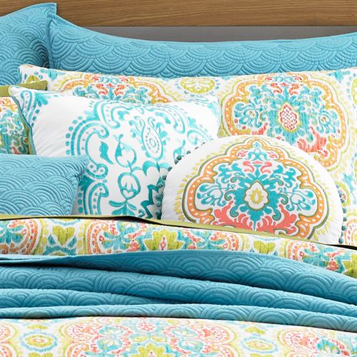 Jakarta Embroidered Pillow Multi Jewel 18 Square