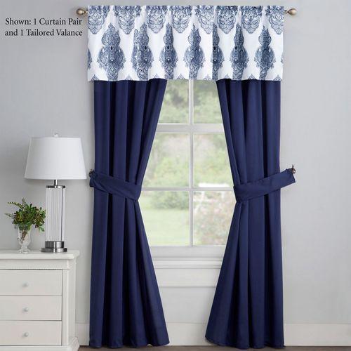 Calecca Tailored Curtain Pair Indigo 84 x 84