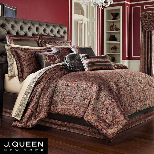 Bridgeport Red Comforter Bedding By J Queen New York