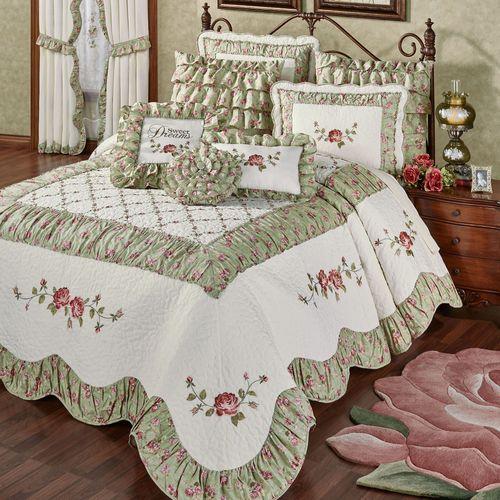 Cordial Garden Grande Bedspread Celadon