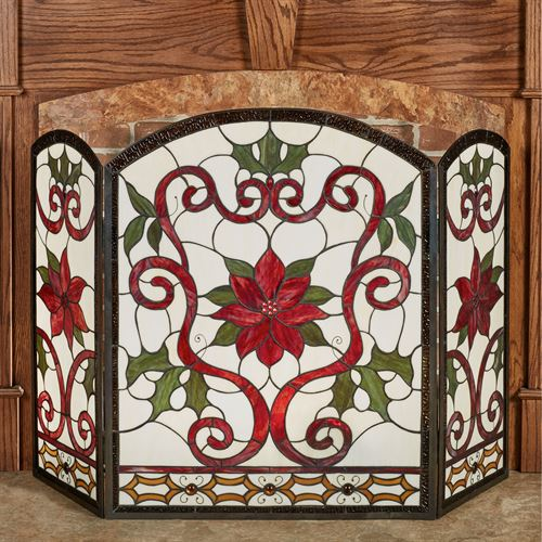 Celyn Decorative Fireplace Screen Red