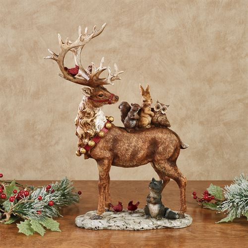 Forest Friends Table Sculpture Brown
