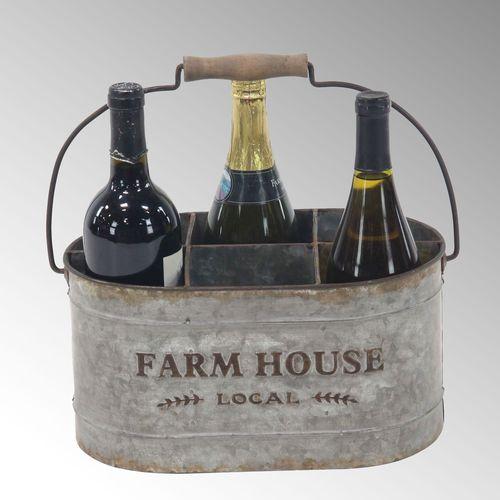Farmhouse Wine Caddy Gray