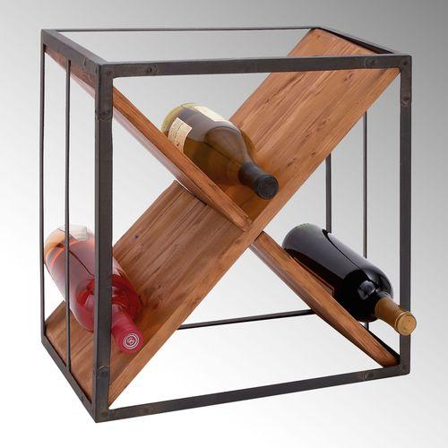 Wrentham Wine Bottle Storage Cube Black