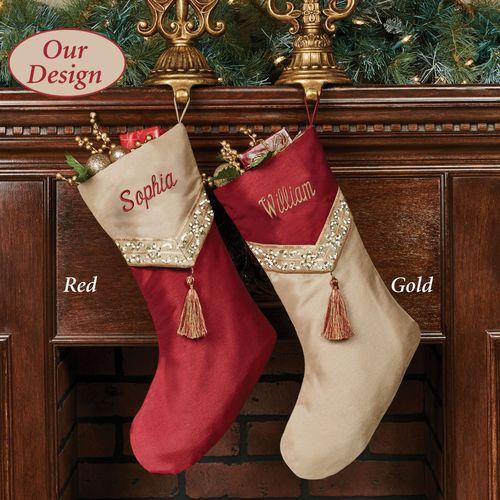 prestige christmas stocking gold