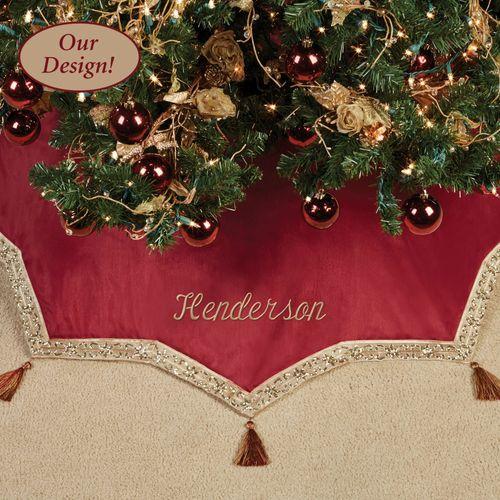 Prestige Christmas Tree Skirt Dark Red 48 Diameter