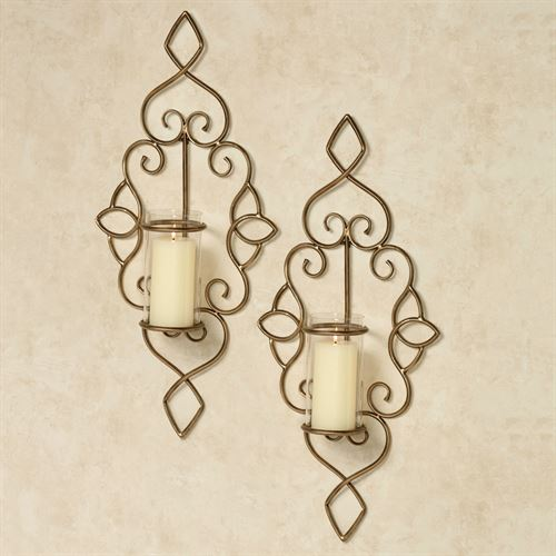 Tandi Wall Sconces Antique Gold Pair