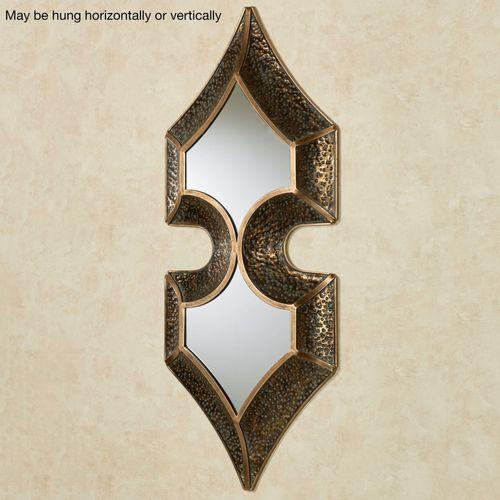 Kipp Mirrored Wall Sculpture Bronze