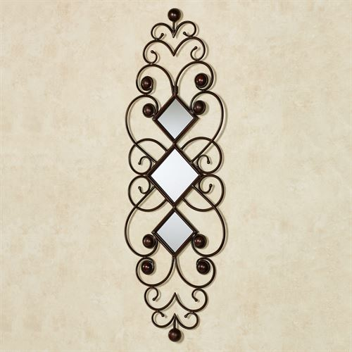 Falena Mirrored Wall Accent Brown