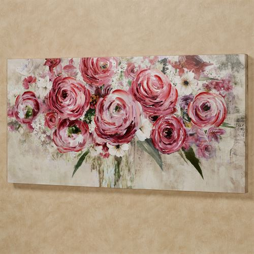 Rosa Impressions Floral Canvas Wall Art Multi Bright