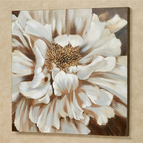 Blooming Beauty Canvas Wall Art Beige/Brown