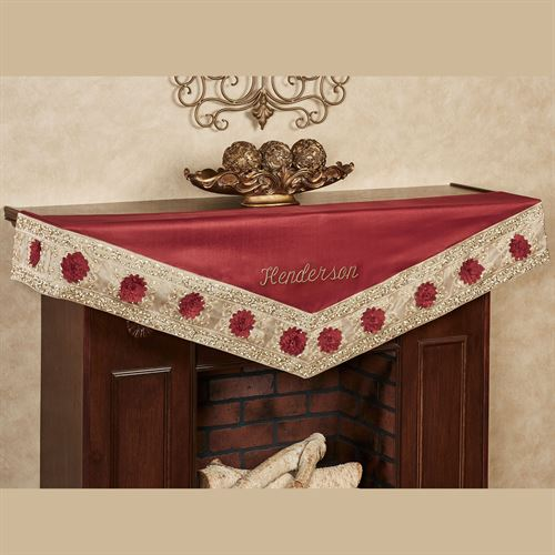 Prestige Mantel Scarf Dark Red 22 x 72