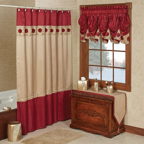Prestige Shower Curtain Dark Red 72 x 72