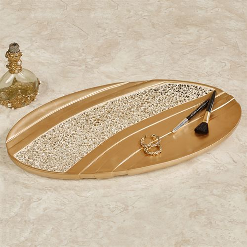 Glamour Vanity Tray Champagne Gold
