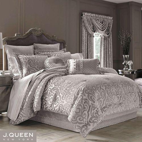 Sicily Comforter Set Silver Gray
