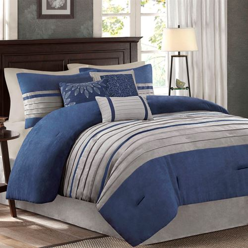 Porter Comforter Bed Set Blue