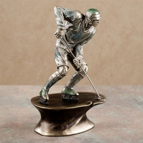 Play Hard Hockey Figurine Platinum