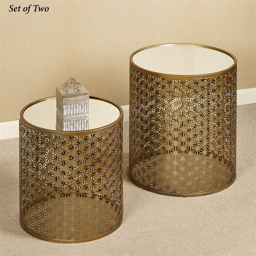 Nicola Nesting Tables Aged Gold Set of Two