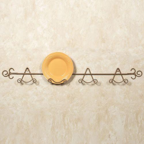 Gala Petite Plate Rack Gold