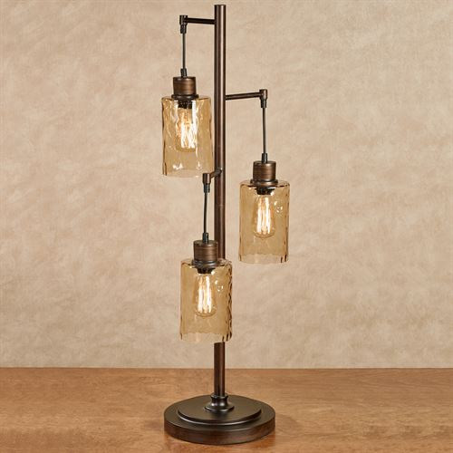 Thomas Three Light Table Lamp With Edison Bulbs