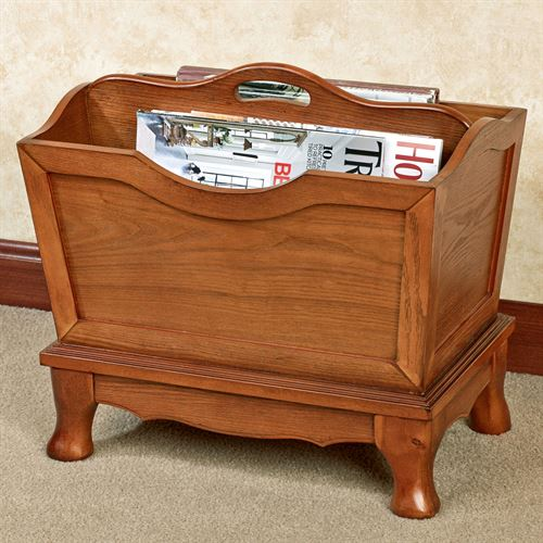 Lyndhurst Magazine Rack Windsor Oak