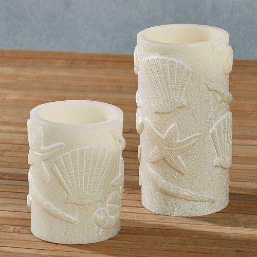 Samudra LED Candles Ivory Set of Two