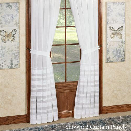 Jasmine Voile Tab Top Curtain Panel Off White