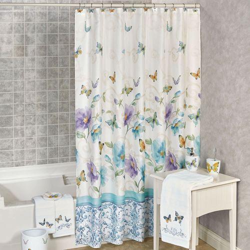 Popular Watercolor Garden Butterfly Floral Shower Curtain SB46
