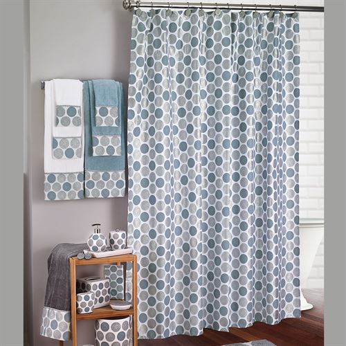 Dotted Circles Contemporary Shower Curtain