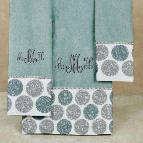 Dotted Circles Bath Towel Set Glacier Bath Hand Fingertip