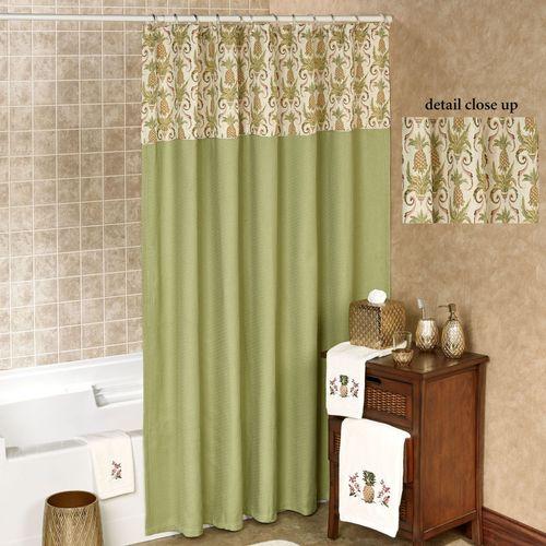 Pina Colada Shower Curtain Fern 72 X