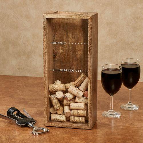 Expert Wine Cork Storage Box Brown