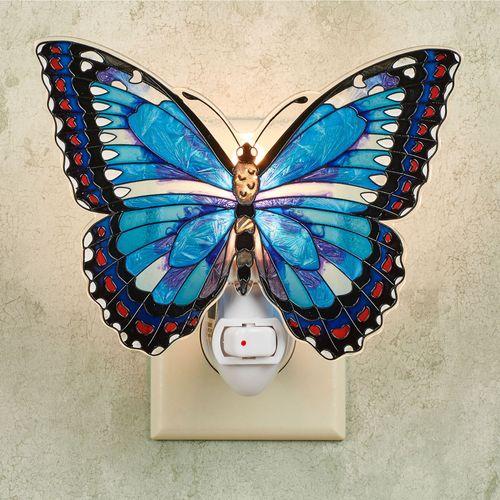 Blue Morpho Butterfly Nightlight
