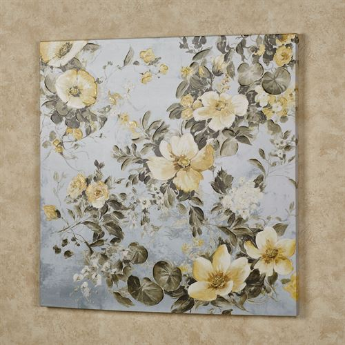 Waverly Floral Canvas Wall Art Yellow