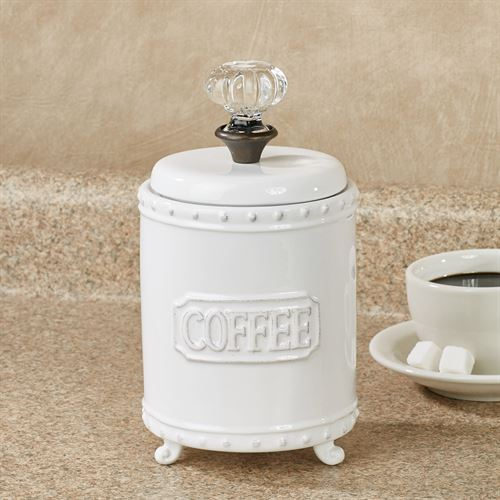 Circa Coffee Canister White