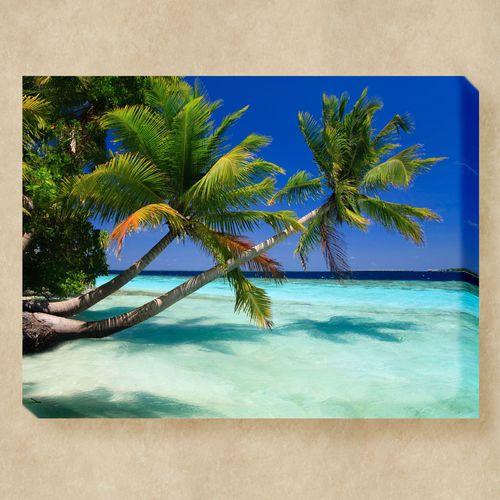 Palms Duo Canvas Wall Art Multi Bright
