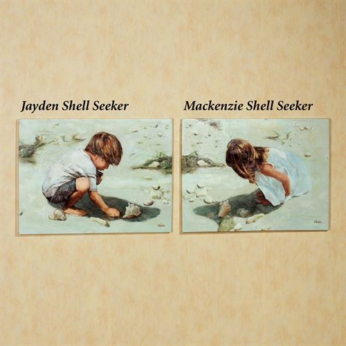 Shell Seekers Indoor Canvas Set  Set of Two
