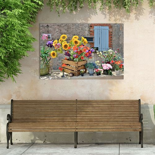 Country Market Canvas Wall Art Multi Bright