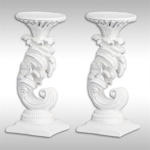 Adelyn Candleholders White Pair