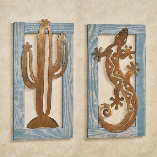 Cactus Southwest Wall Art Blue
