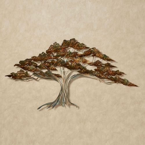 Oak Tree Wall Sculpture Multi Metallic