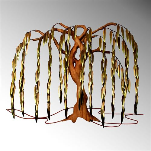 Autumn Willow Tree Wall Sculpture Multi Earth