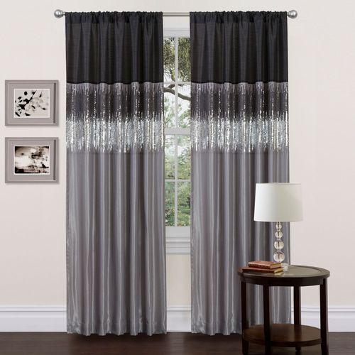 Lyra Curtain Panel Black 42 x 84