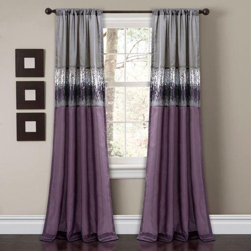 Lyra Curtain Panel Purple 42 x 84