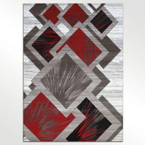 Balbis Rectangle Rug Dark Red